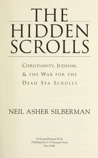 Cover of: The hidden scrolls | Neil Asher Silberman